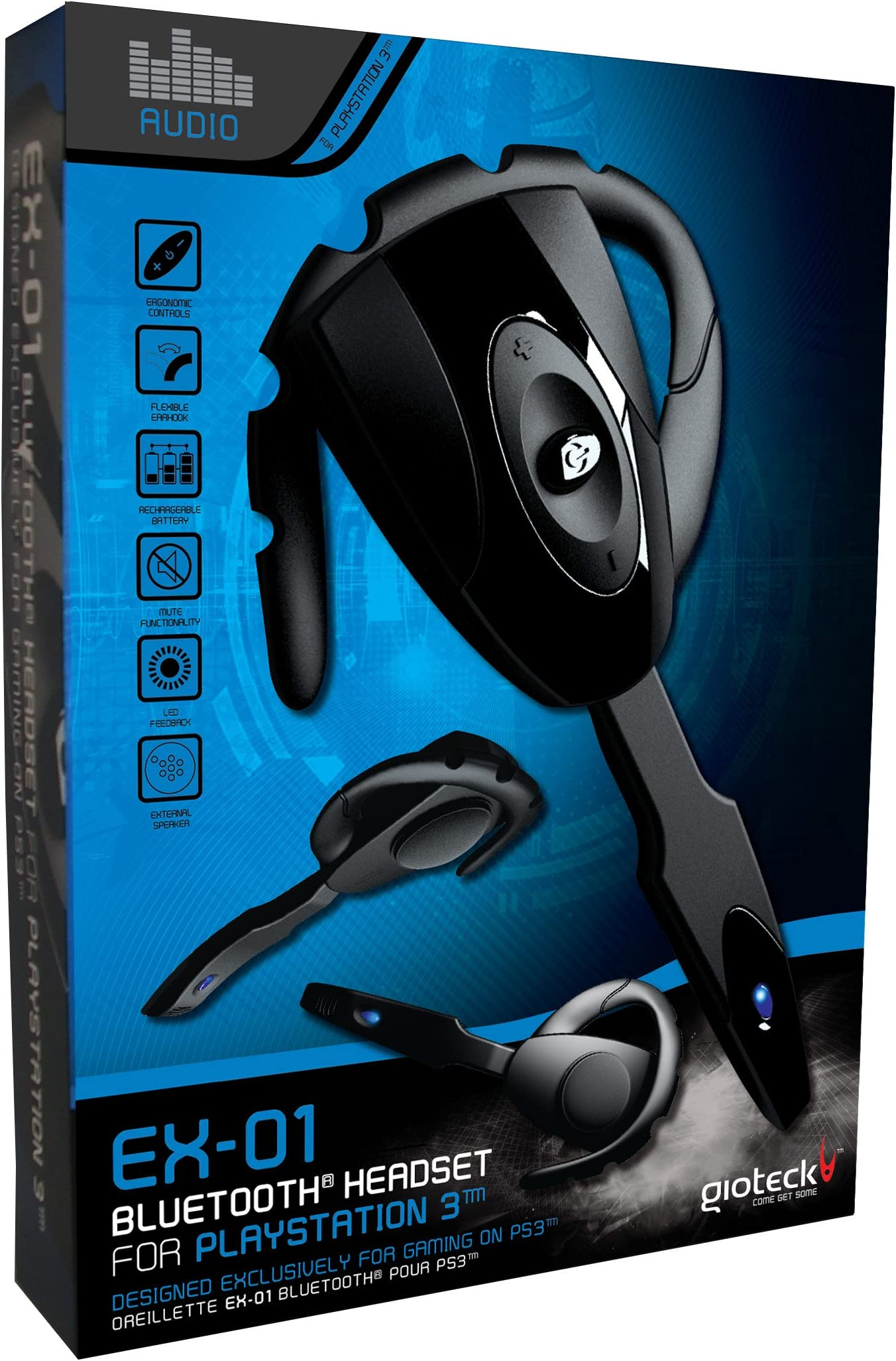 Amazon.com  Gioteck EX-01 Bluetooth Headset for PS3  Video Games 8fa54462b784c