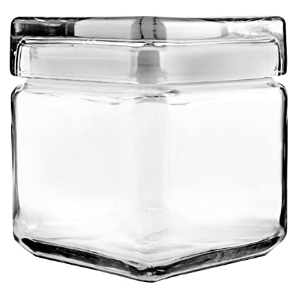 4ee0d219617 Amazon.com  Anchor Hocking 1-Quart Stackable Jars with Glass Lids ...