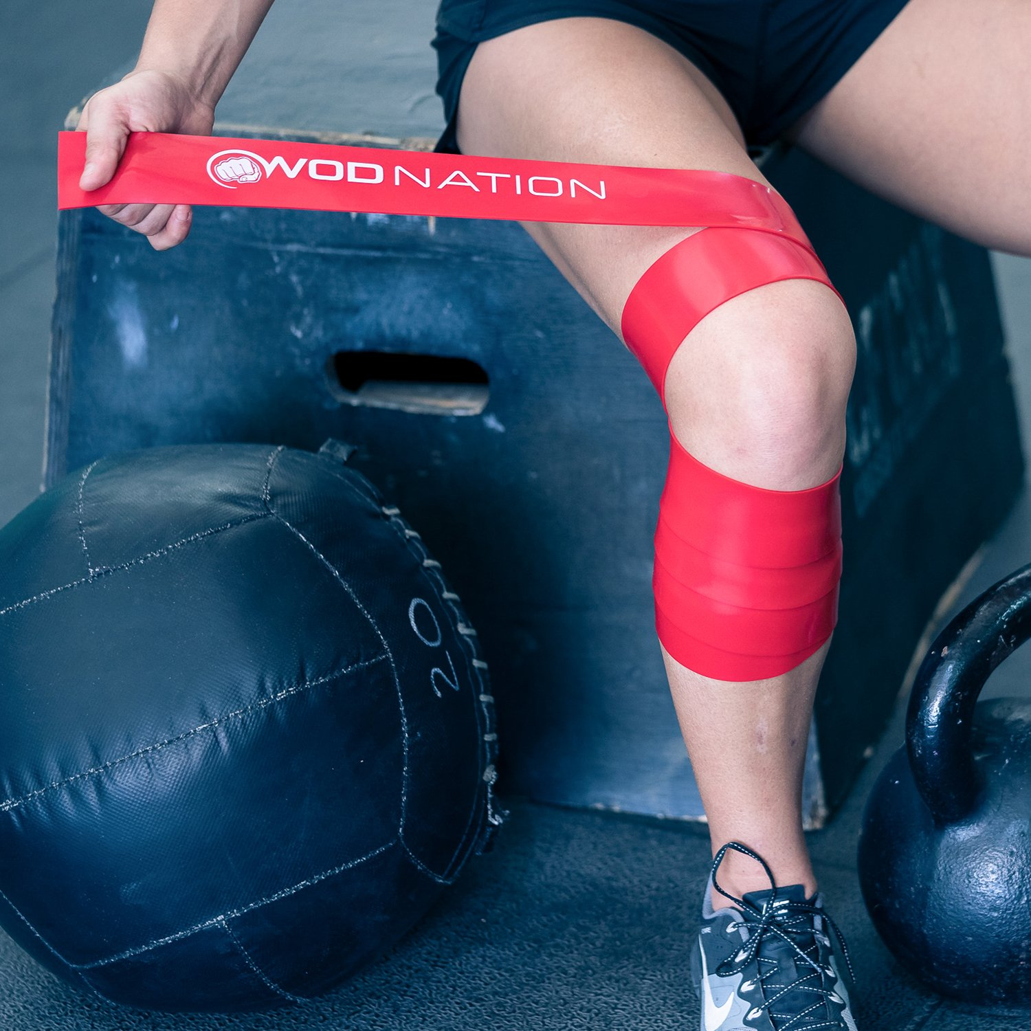 b5fa2c0045828b ... Recovery Band for Tack and Flossing Sore Muscles and Increasing  Mobility - Stretch Band Includes Carrying Case (1 Black & 1 Red) : Sports &  Outdoors