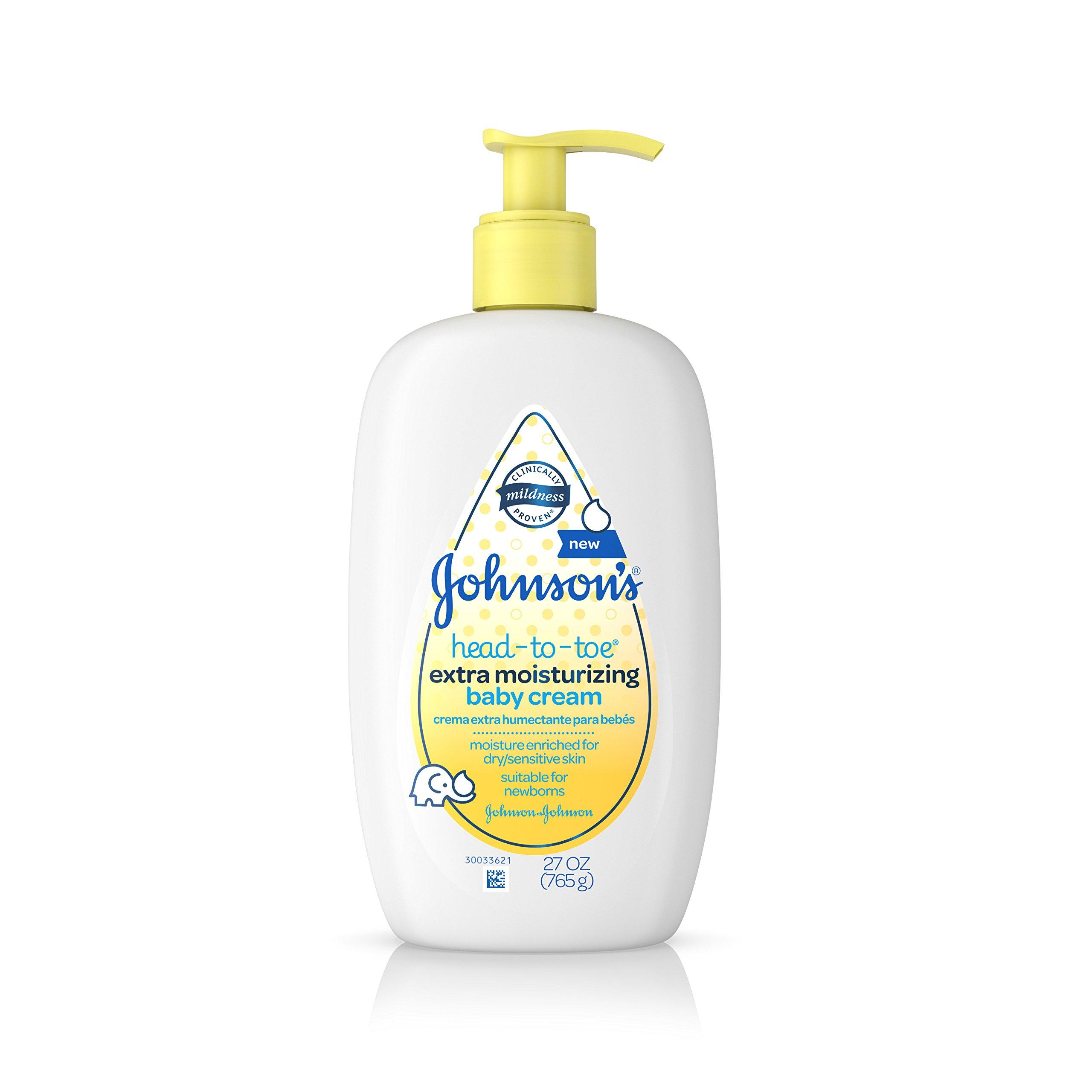 Johnson's Head-to-Toe Extra Moisturizing Baby Cream, 27 Oz by Aveeno Baby