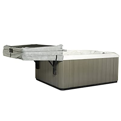 The Slider Spa Cover No-Lift Remover & Storage System - Dual Roller Retractable Arms : Garden & Outdoor