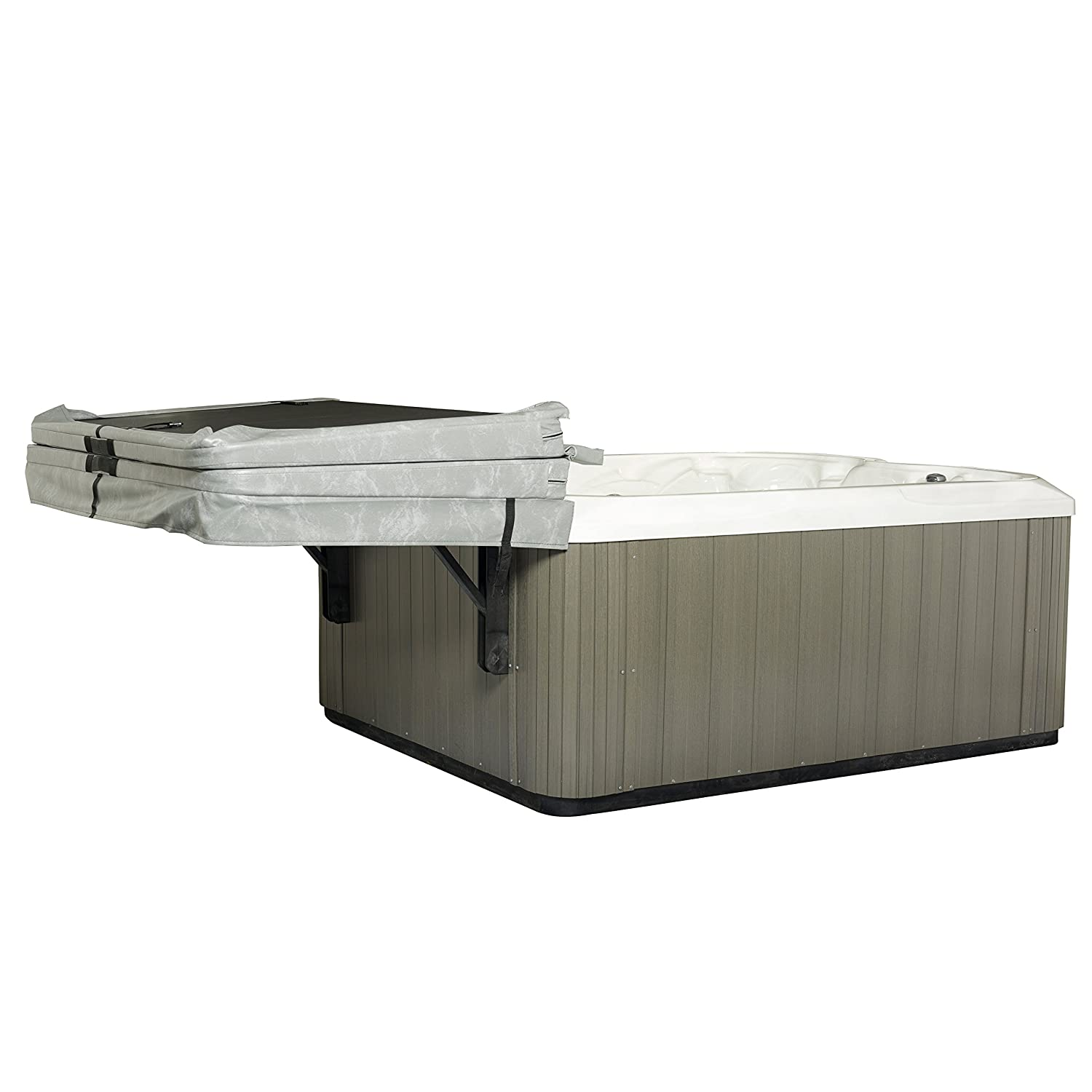 Dual Roller Retractable Arms The Slider Spa Cover No-Lift Remover /& Storage System