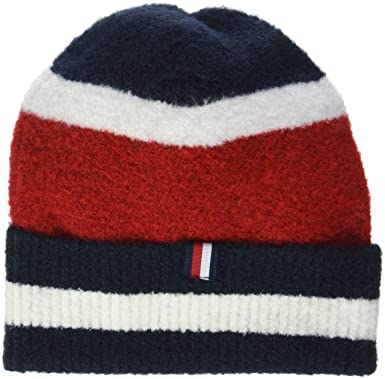 872d3de11 Tommy Hilfiger Women's Soft Stripes Beanie Blue (Corporate 901), One ...