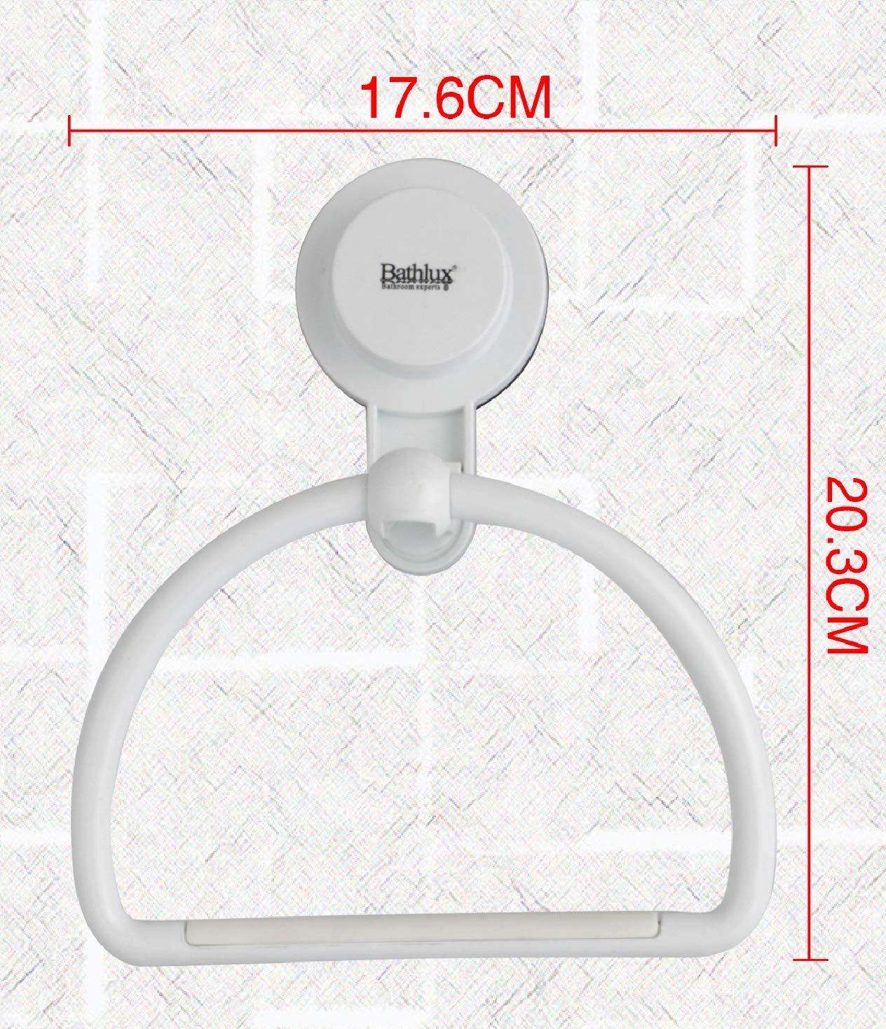 Estanteria de toalla toallero manos ba/ño blanco con ventosa 20,3x17,6x5,8 cm