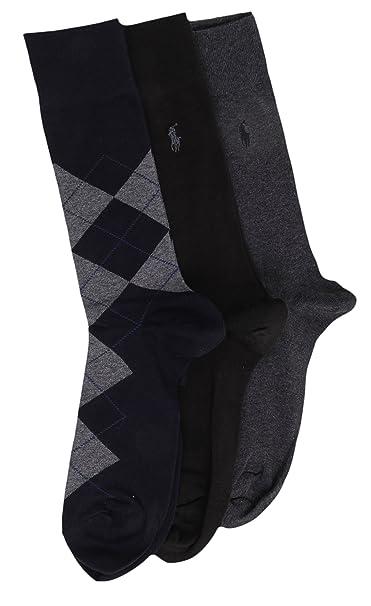 68ee7293e88 Polo Ralph Lauren - Calcetines de vestir para hombre (3 unidades ...