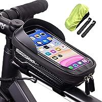 LEMEGO Bolsas de Bicicleta, Bolsa Impermeable para Bicicleta, Bolsa Táctil de Tubo Superior Delantero con Orificio para…