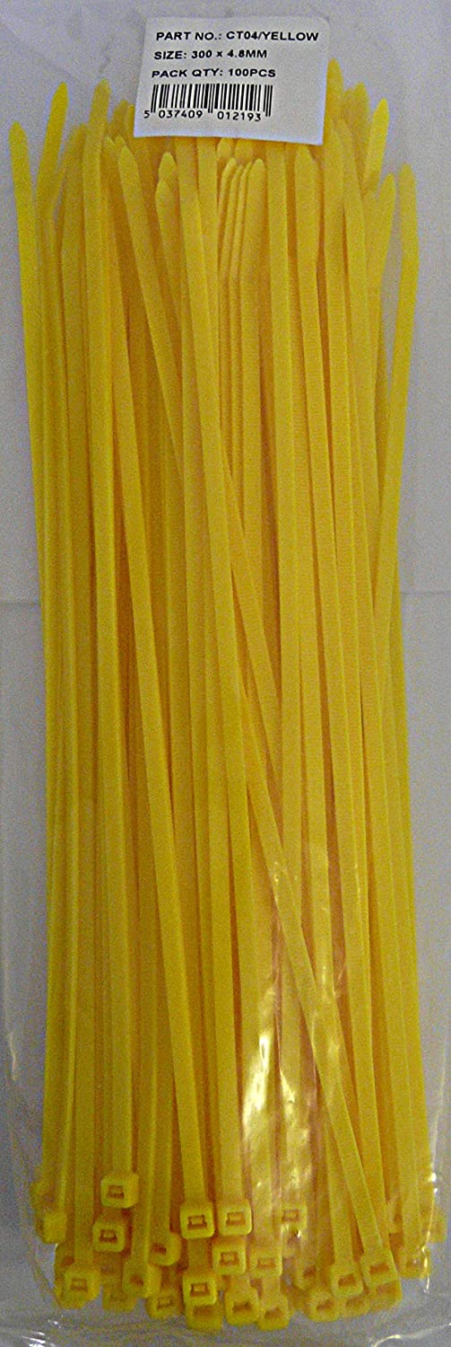 Simply CT04/YELLOW Cable Ties, Yellow
