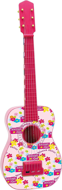 Bontempi- GS 7171 Guitarra española con Cuerdas de Metal, Color Rosa, 71.5 cm (Spanish Business Option Tradding