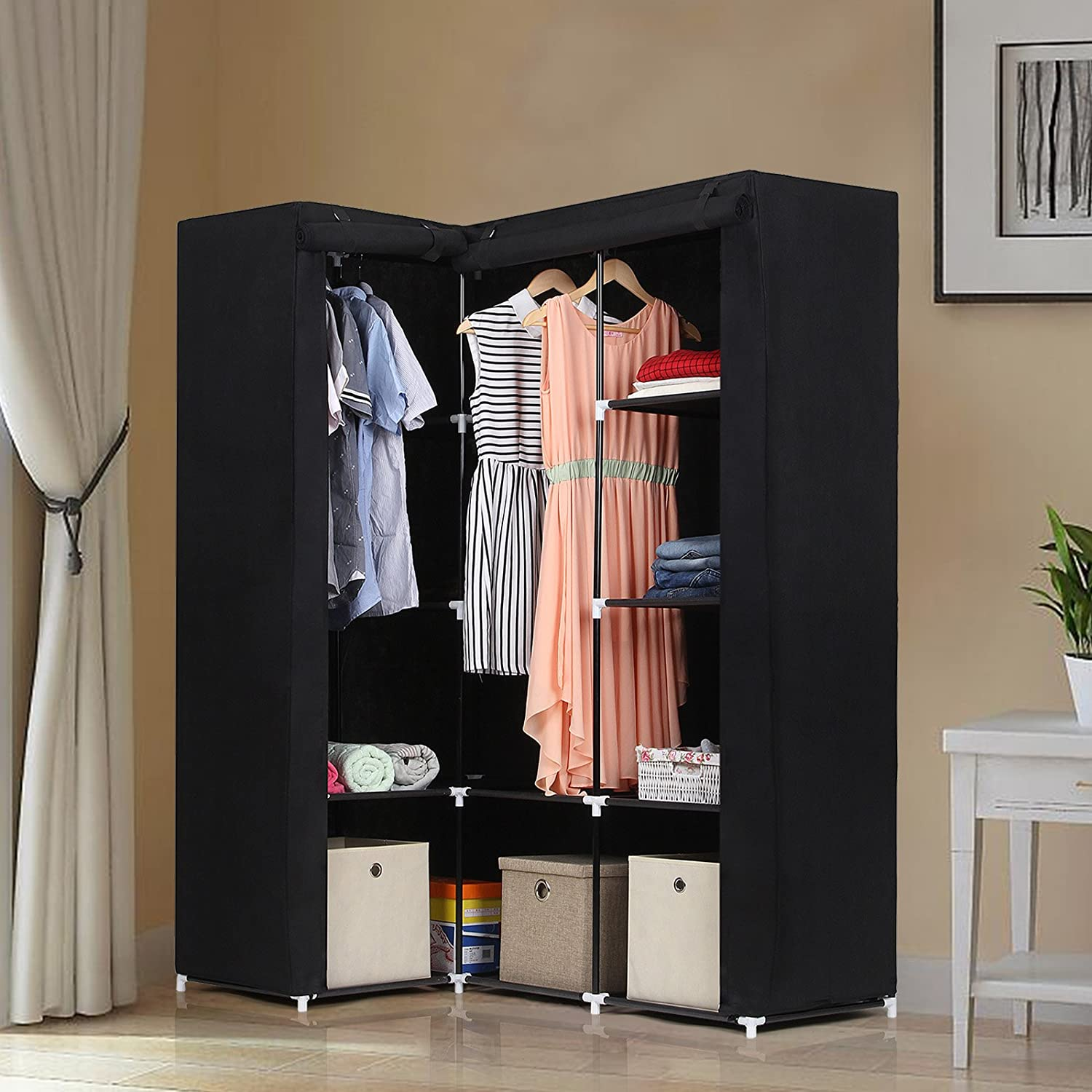 coat for wardrobe revolving or idea clothes vertical great storage seasonal pin closet understairs