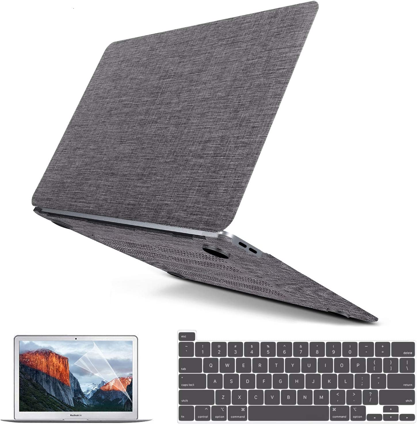 IMDCASE Compatible with MacBook Pro 16 Inch Case 2021 2020 2019 Release A2141 Retina Display & Touch Bar & Touch ID, MacBook Pro Case Mac Book Fabric Hard Shell + Keyboard Cover + Screen Protector