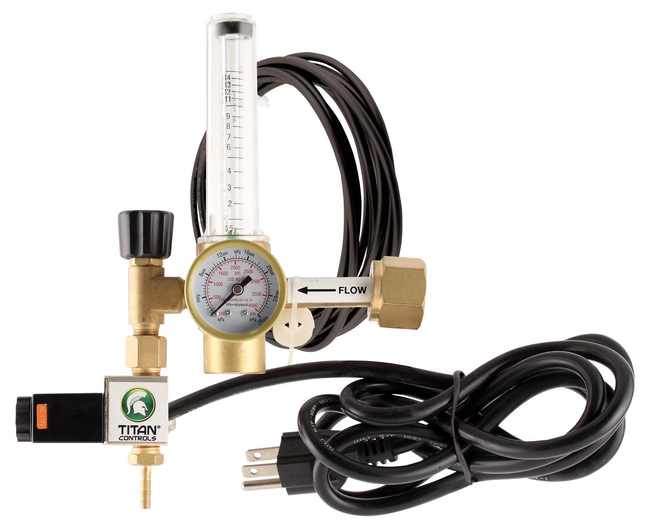 Titan Controls Carbon Dioxide (CO2) Regulator for 120V Controllers & Timers by Titan Controls