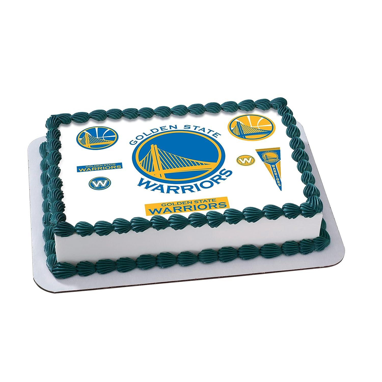 Golden State Warriors Edible Cake Image Cake Topper Icing Sugar ...