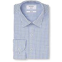 Van Heusen Men's Classic-Relaxed Fit Multi Window Check Business Shirt