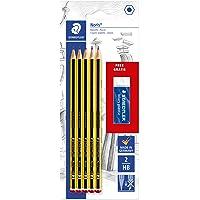 Staedtler Noris 120, Crayons à Papier Hb en Bois de Haute Qualité, Étui Blister de 5 Crayons Hb et 1 Gomme Originale Mars Plastic, 120 A Sbkd
