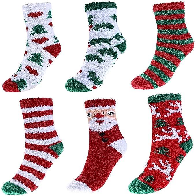 6 Pack calcetines térmicospara el regalo de Navidad: Amazon.es: Ropa y accesorios