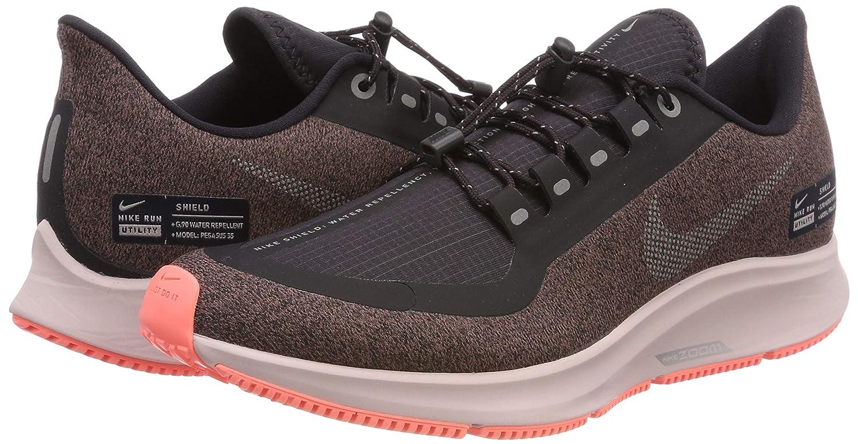 Nike Air Zoom Pegasus 35 Shield Women's Running Shoe Oil GreyMetallic Silver Smokey Mauve 10.0