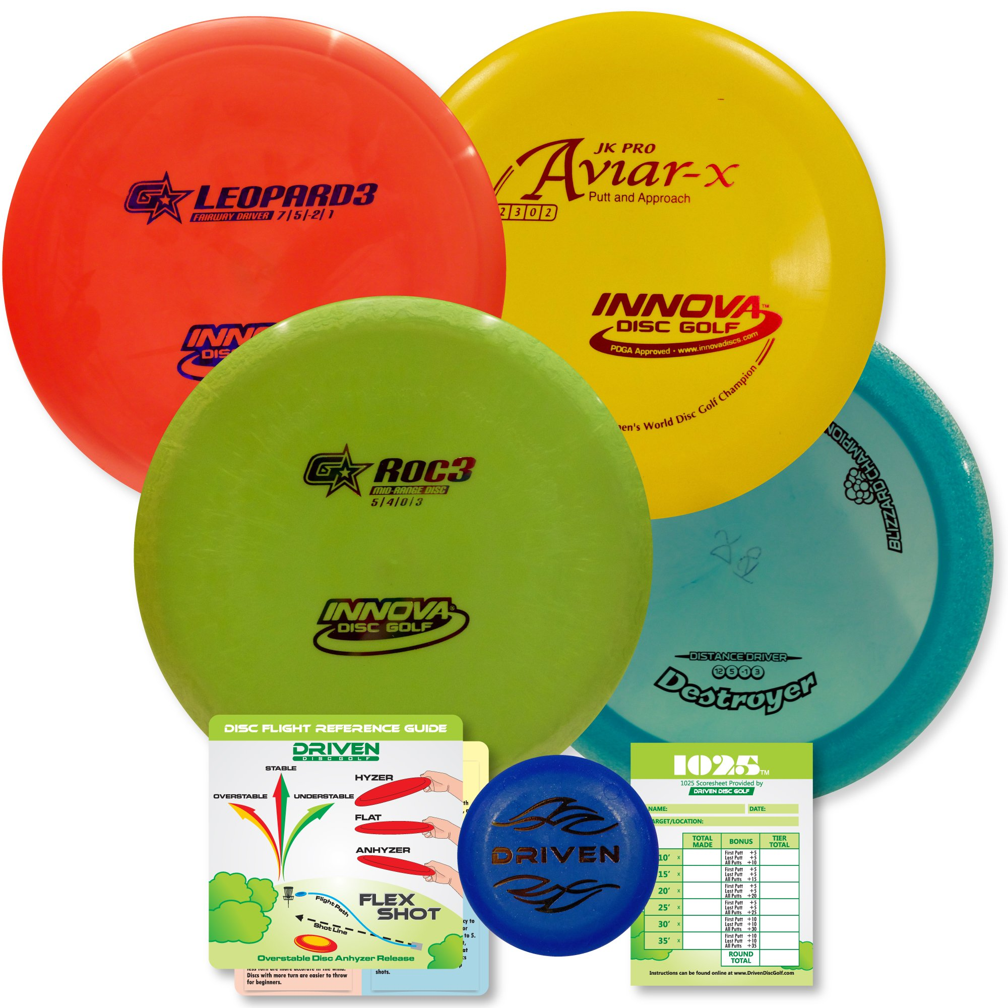 Innova Disc Golf Advanced Players Pack | Premium 4 Disc Set - for Intermediate and Experienced Players - 1025 Putting Game - Flight Reference Card - Driven Mini Marker | Disc Colors Vary by Driven Disc Golf (Image #7)