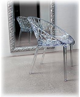 Ultra Modern Acrylic Dining Chair Cream: Amazon co uk