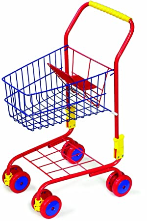 960c16ff802b Legler Metal Shopping Trolley for a Shopping Sensation, Robust Metal Frame  Includes Integrated Doll Seat