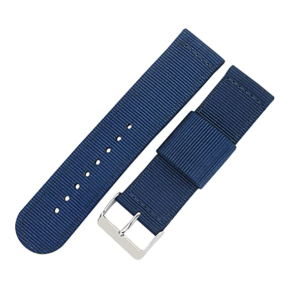 Quick Release Nylon Watch Band 22mm Royal Blue Replacement Watch Strap  Stainless Steel Clasp 3e674ca68fc0