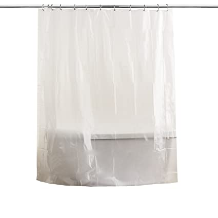 Splash Home Anti Mildew Shower Curtain Liner Frosty