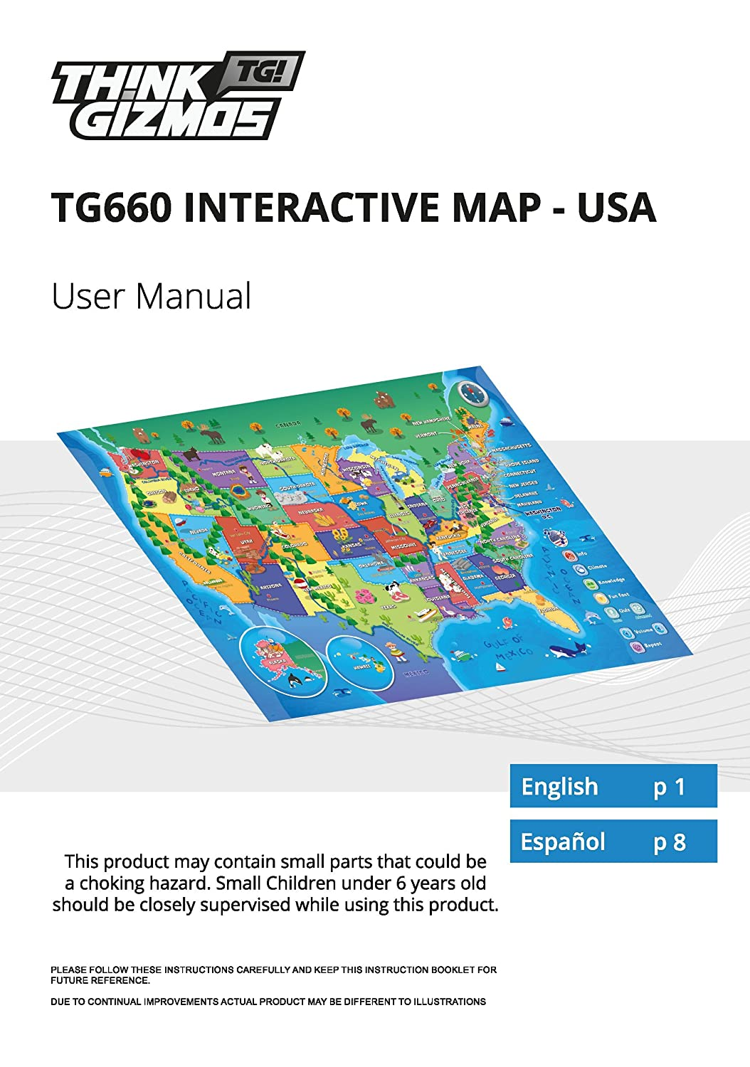 Amazon interactive talking usa map for kids tg660 push learn amazon interactive talking usa map for kids tg660 push learn and discover over 500 facts about the usa ideal interactive learning toy gift for sciox Choice Image