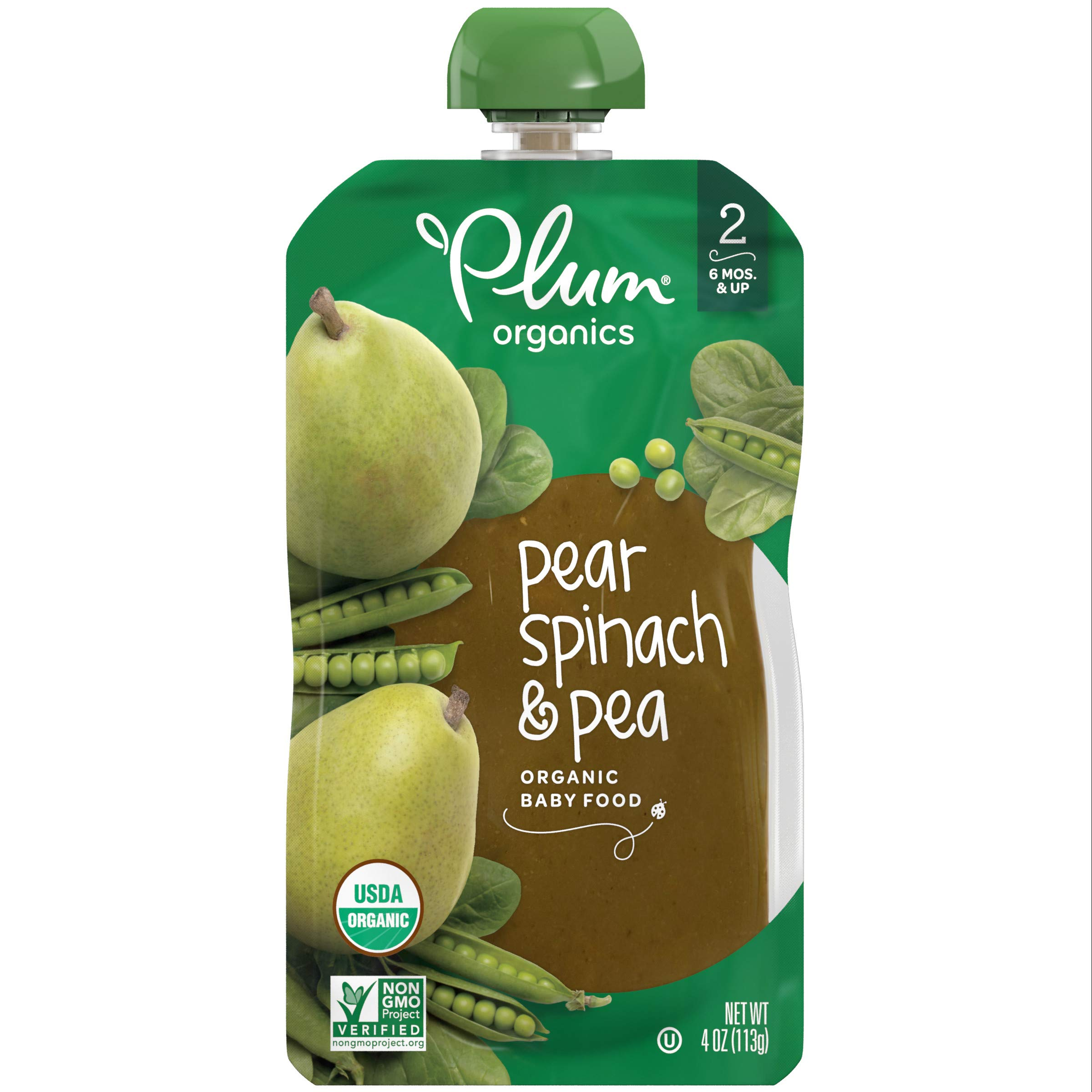 Plum Organics Stage 2, Organic Baby Food, Fruit and Veggie Variety Pack, 4 ounce pouch, Pack of 18 (Packaging May Vary) by Plum Organics (Image #4)