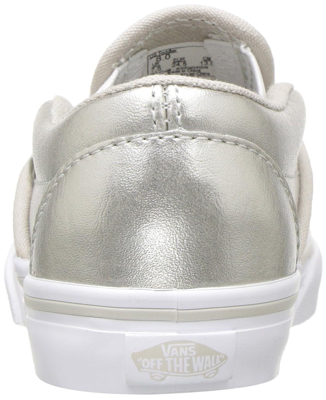 Vans Kids' Classic Slip-on Core (Toddler) B01IDT7UMU 6.5 M US Toddler|Metallic Silver/True White