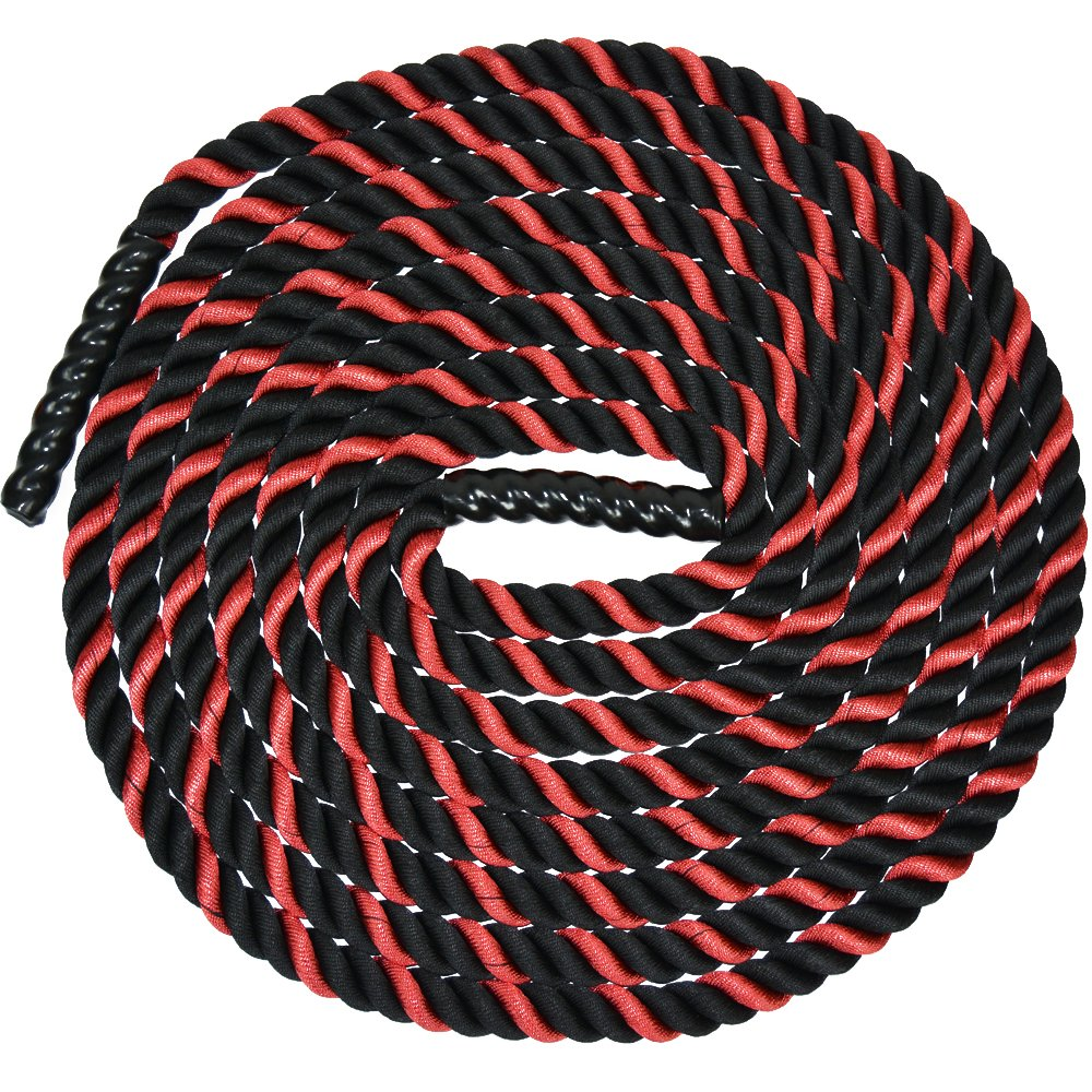Battle Ropes with Anchor Kit and Nylon Protector Included - Fitness Undulation Rope Exercise - Cross Strength Training - Circuits Workout (1.5'' x 30 ft) by Iron Bull Strength (Image #2)