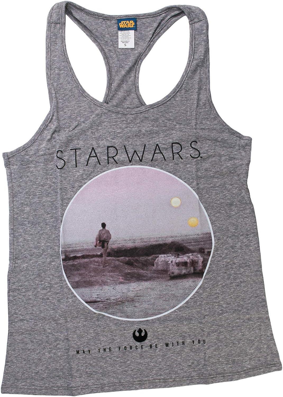 Star Wars Photoreal Circle Womens Gray Tank Top