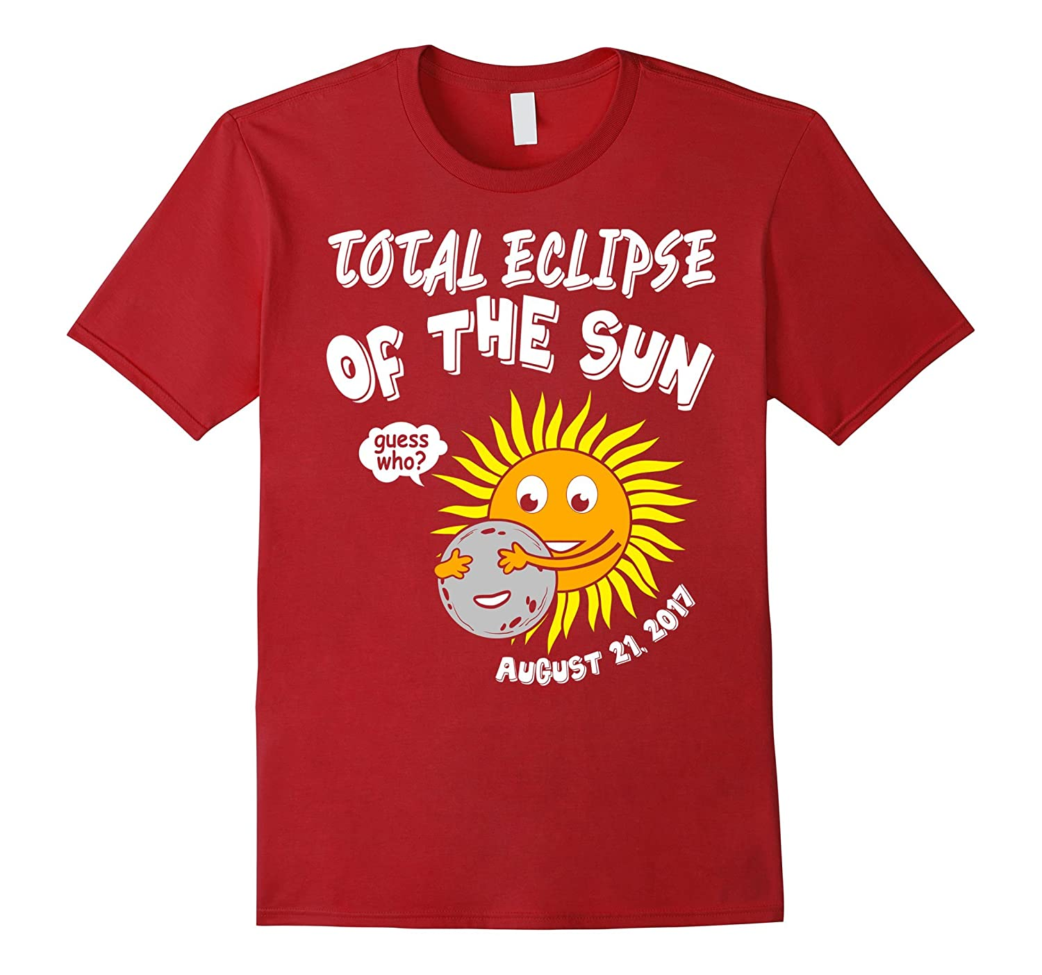 Cute Guess Who? Total Solar Eclipse of the Sun T Shirt-BN