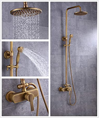 Sccot - Grifo de ducha, diseño vintage, latón de lujo, incluye ...