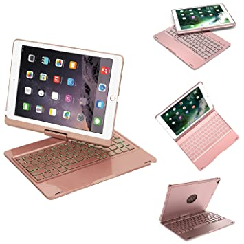 Amazon.com: YOUNGFUN - Funda con teclado para iPad 9.7, iPad ...