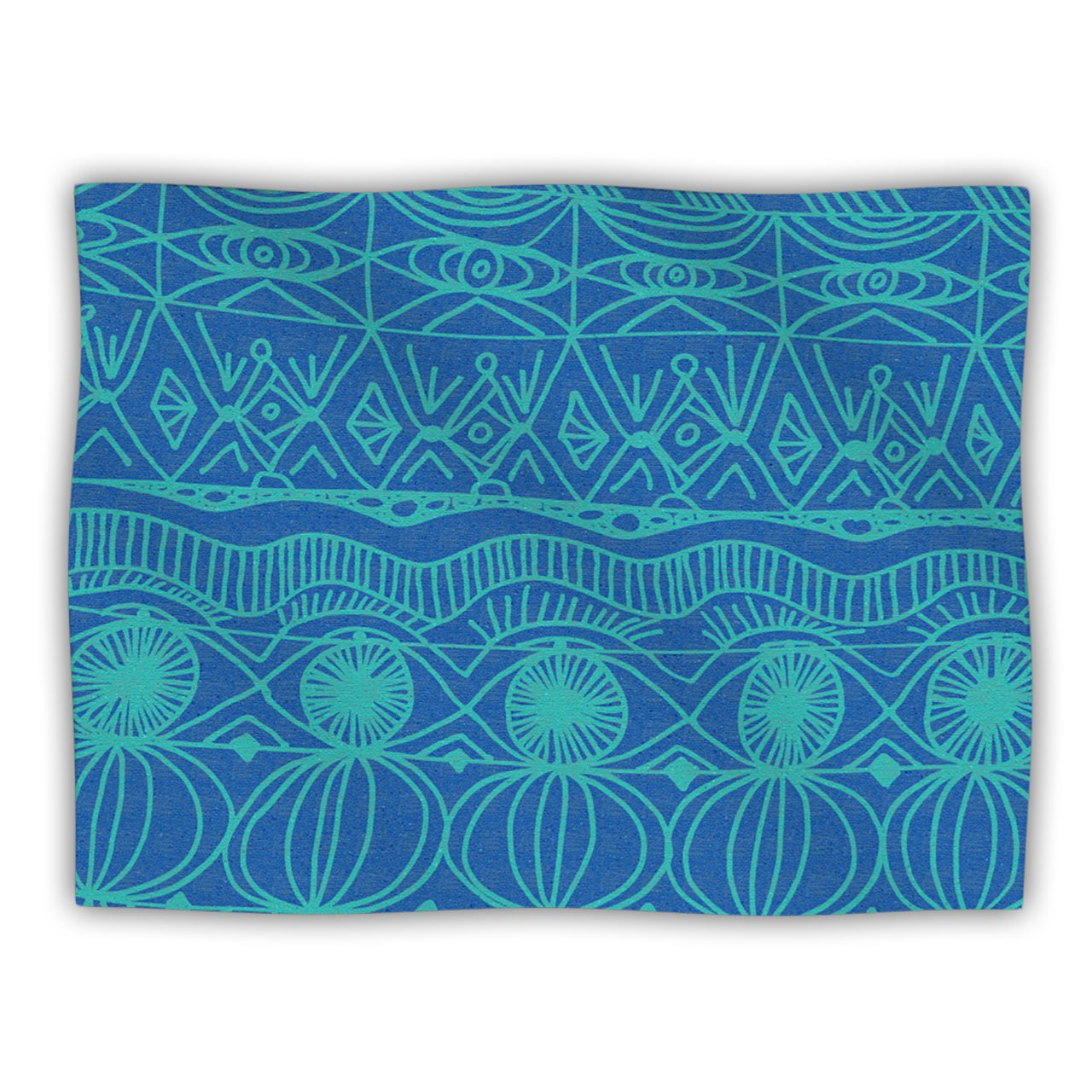 Kess InHouse Catherine Holcombe Beach Blanket Confusion Dog Blanket, 60 by 50-Inch