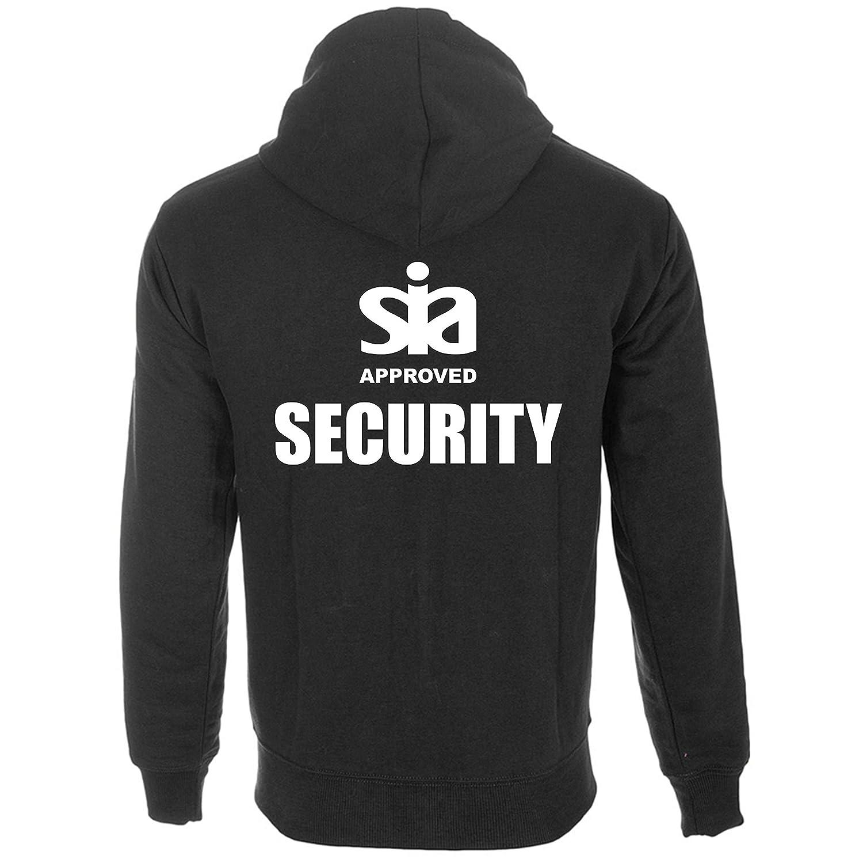 Brook Hi Vis UK Security SIA Approved Black Hoodie Doorman Workwear Staff Clothing