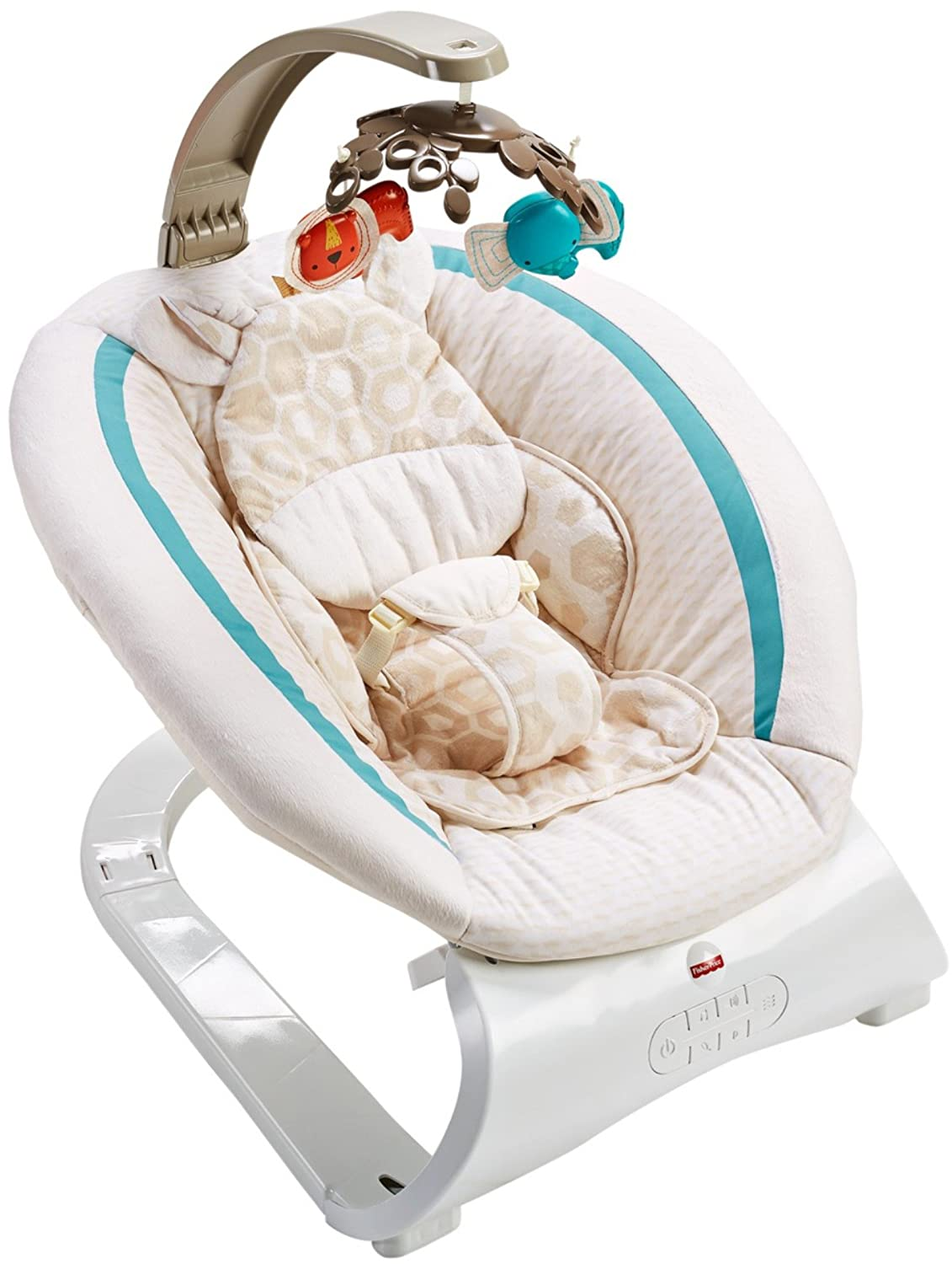 Fisher-Price Deluxe Bouncer, Soothing Savanna CLH37