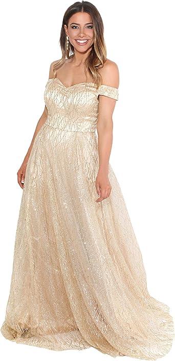 Krisp Vestido Mujer Fiesta Largo Talla Grande Boda Noche Elegante Dama Honor Madrina Amazon Es Ropa Y Accesorios