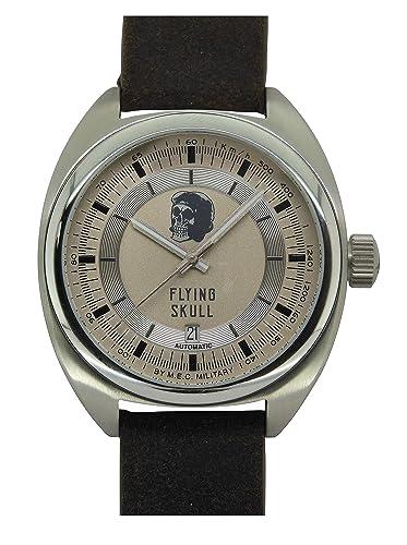 Reloj Vintage Automático Hombre Calavera Militar Buceo mec acero: Amazon.es: Relojes