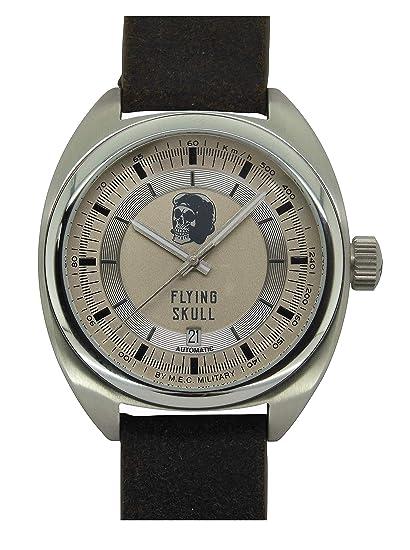 Reloj Vintage Automático Hombre Calavera Militar Buceo mec acero