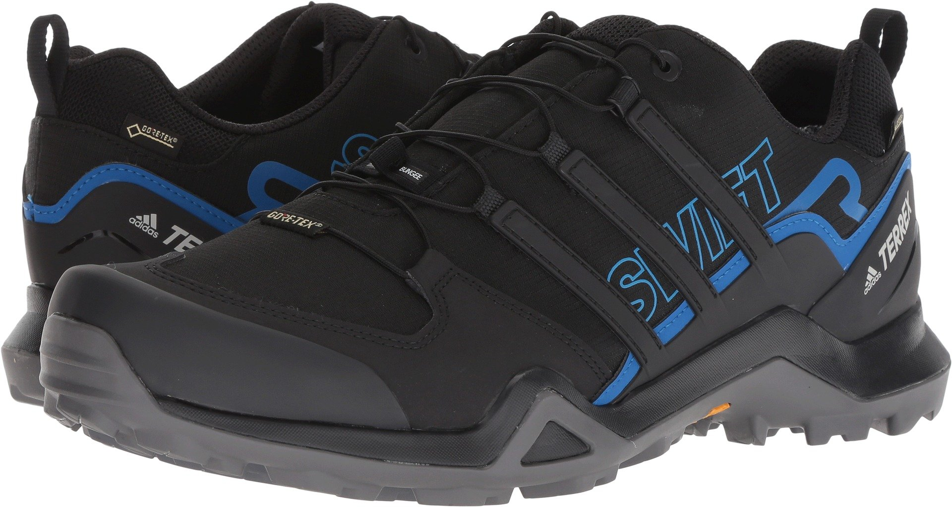 adidas outdoor Men's Terrex Swift R2 GTX¿ Black/Black/Bright Blue 6.5 D US by adidas outdoor (Image #1)