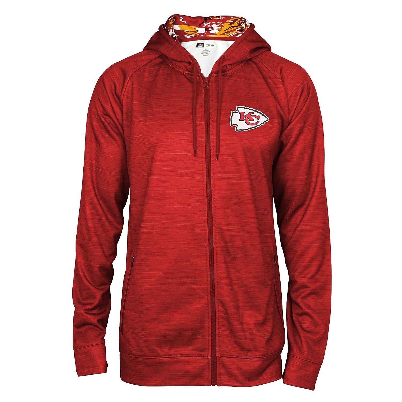 Red XLarge NFL Mens NFL Full Zip Camo Space Dye Hoodie