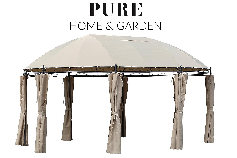 XXL Pure Home & Garden Luxus Pavillon Vigo 530x350 cm, inkl. aller Seitenteile