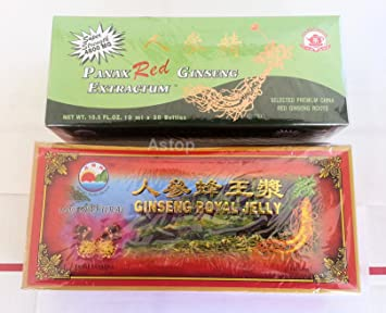 Panax Red Ginseng Extractum & Ginseng Royal Jelly Dietary Supplement Combo.. All Natural.