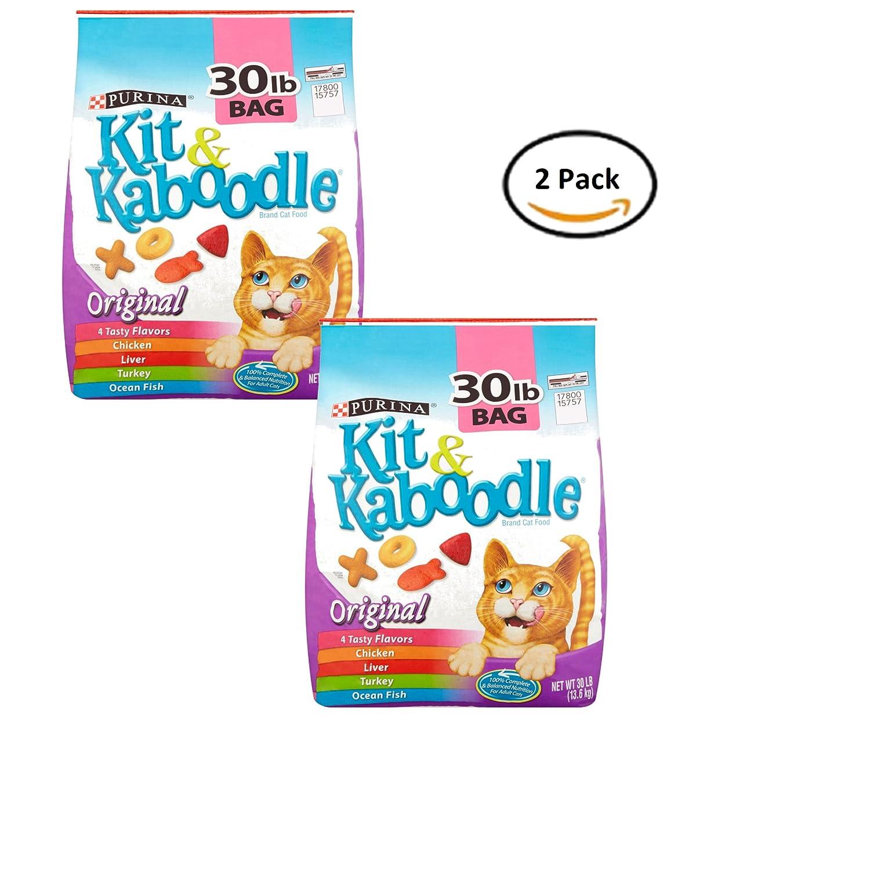 Pack of 2 Purina Kit & Kaboodle Original Cat Food 30 lb. Bag