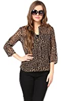 The Gud Look Women's Animal Print Top