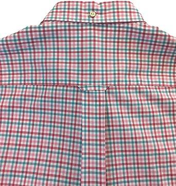 GANT Camisa Manga Corta Vichy - Color - Rosa, Talla - L ...