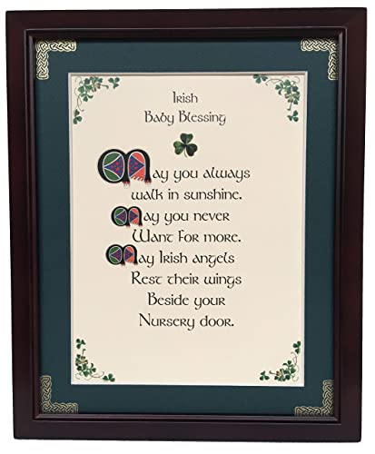 May You Always Have Irish Home Blessing Personalizable Framed Green Matted Blessing