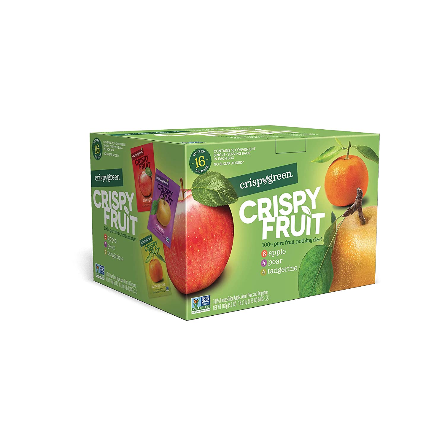 Crispy Green Freeze-Dried Fruit, Single-Serve, Variety Pack, 0.35 Ounce (Pack of 16)