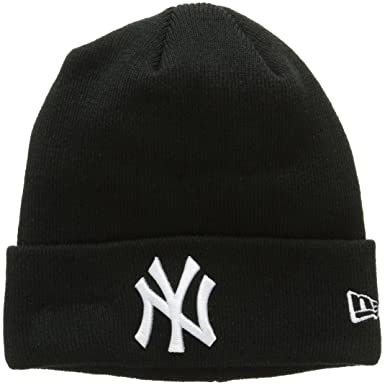 7158402e15f36a New Era Herren Essential Cuff New York Yankees Strickmütze, Black, One Size