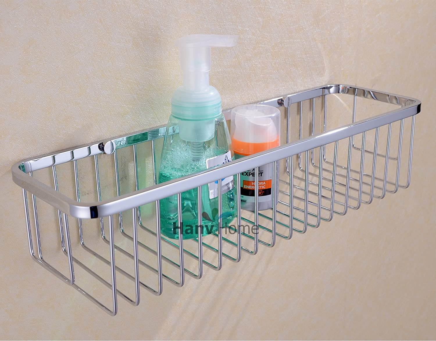 Amazon.com: Rectangular Shower Caddy - Stainless Steel Wall Mount ...